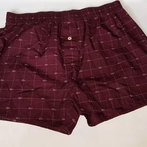 Lacoste Mens Cotton Woven Boxer Shorts MD